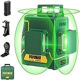 POPOMAN Laserwaage, grün, 45 m, 3 x 360 °, Professioneller Laser Kreuz, USB Ladegerät,...