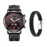 Souarts Herren Armbanduhr Jungen Retro Analoge Quarz Uhr mit Magnet Armband Männer Geschenk Set...