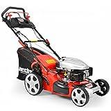 HECHT Benzin-Rasenmäher 5484 SX Rasenmäher (3,7 kW (5,0 PS), Schnittbreite 46 cm, 60 Liter...