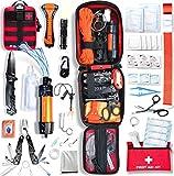 Baytiz   Survival Kit + Erste Hilfe Set - mit Wasserfilter Strohhalm und Outdoor Ausrüstung -...