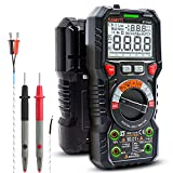 KAIWEETS Digital Multimeter mit LED-Buchsen, Strommessgerät CAT III 1000 V, CAT IV 600 V True RMS...