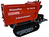 PowerPac, RC1000DS, Ketten-Dumper, Motorschubkarre, 3-Seiten-Kipper, 13,5 PS