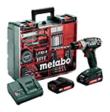 Metabo Akkuschrauber / Akku Bohrschrauber Mobile Werkstatt BS 18 Quick Set (602217880) im...