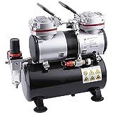 Fengda FD-196 Airbrush Mini Kompressor mit 3,5L Lufttank/Druckbehälter/ 6 bar / Auto Stop