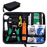 SGILE 9 in 1 Netzwerk Werkzeug Set Reparaturwerkzeuge, Netzwerk Kabeltester Kit, Patchkabel Tester,...