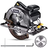 Kreissäge, TECCPO 5800RPM 1200W Handkreissäge, 1×24T Kreissägeblatt, Schnitttiefe: 63mm...