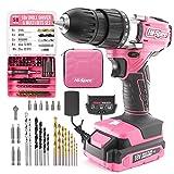 Hi-Spec 58-teiliger 18V-Bohrertreiber & Multi-Bit-Satz Pink Rosa. DIY Akkuschrauber & Bohrmaschine...