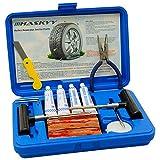 Haskyy 57 TLG PR Flickzeug Profi Reifenreparatur Set PKW Pannenset Vulkanisier Streifen PKW MOTORRAD...