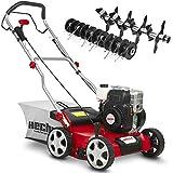 (NEU) HECHT 2-IN-1 Benzin Vertikutierer/Lüfter für optimale Rasenpflege – 2,5 kW / 3,4 PS – 40...