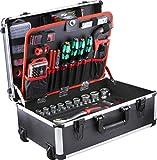 Meister Werkzeugtrolley 238-teilig - Mit Qualitätswerkzeug von Knipex & Wera - Mit Rollen -...