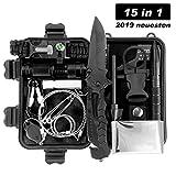 LC-dolida Survival Kit 15 in 1, Außen Notfall Survival Kit,Camping, Bushcraft, Wandern, Jagd und...