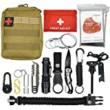 Abida Survival Kit, 15 in 1 Outdoor Emergency Survival Kit mit Survival-Decke, Klappmesser,...