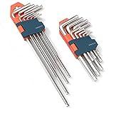 Presch Innensechskantschlüssel Set 18 teilig HX & TX - Profi Innensechskant Satz klein und kompakt...