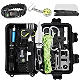 Jooheli Survival Kit, Outdoor Survival Kit 20 in 1, Survival Ausrüstung with Survival Bracelet...