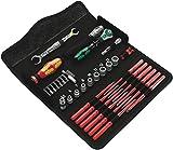 Wera 05135926001 KK W 1 Kraftform Kompakt W1 Wartung, Werkzeug-Set, 35-teilig Schwarz Stück