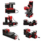 Kecheer Mini DIY 6 in 1 Drehmaschine aus Aluminiumlegierung + Zinklegierung, Multifunktionale...