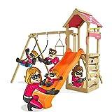 Spielturm Active Heroows Schaukelgestell mit Sandkasten und Kletterwand, Schaukel & Rutsche, viel...