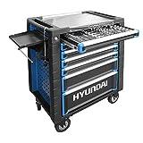 HYUNDAI Werkstattwagen SET 59002 (291-teilig, hochwertiger Werkzeugwagen, 7 Schubladen mit Einlagen,...