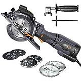 Handkreissäge mit Metallgriff, TACKLIFE 710W 3500U Mini Handkreissäge mit 6 Klingen, Laser und...