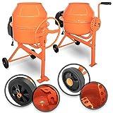 TIMBERTECH® Betonmischer - 140/70 l, 220W/550W, mit Handrad/Hebel, 2 Räder, Elektrisch, Stahl,...