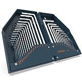 Presch Innensechskant Satz HX 30 tlg. Metrisch und Zoll - Innensechskantschlüssel Set kompakt mit...