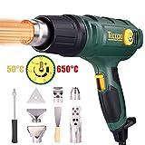 Heißluftpistole, TECCPO 2000W Professionelle Heißluftfön 230V, 3 Luftmengeneinstellungen,...