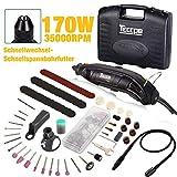 Multifunktionswerkzeug, TECCPO 8000-35000 U/min 170W Drehwerkzeug, Rotationswerkzeug mit 5...