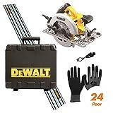DeWALT Handkreissäge DWE576KR inkl. Führungsschiene (1500 mm), Handschuhclip, 24x...