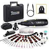 TECCPO Akku Multifunktionswerkzeug, 12V Set(mit 80 Zubehör, Flex Welle, Schnellspannbohrfutter,...