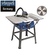 Scheppach HS 100 S Sonderedition Tischkreissäge – Kreissäge mit Feinschnitt Sägeblatt (2000 W,...