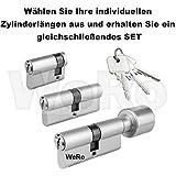 Schließzylinder für gleichschließendes SET / Längen frei kombinierbar Doppelzylinder A:30mm...