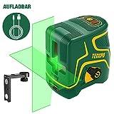 Kreuzlinienlaser Grün 30m TECCPO, USB Aufladung, Selbstnivellierenden und Pulsfunktion,...