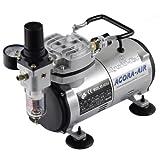 Agora-Tec® Airbrush Compressor AT-AC-02, Kompressor für Airbrushanwendungen mit 4 bar und 20l/min,...