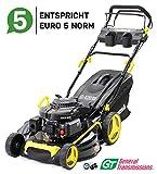Craftfull Premium Benzin Rasenmäher 5in1 - Euro 5-4,4 Kw 6 Ps - 196 ccm 4-Takt Motor - GT...