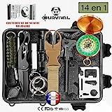 BIOHEALTH PARIS Survivalkit, Überleben Set, Rettungshilfe professionelles Survival kit 14 in 1.Die...