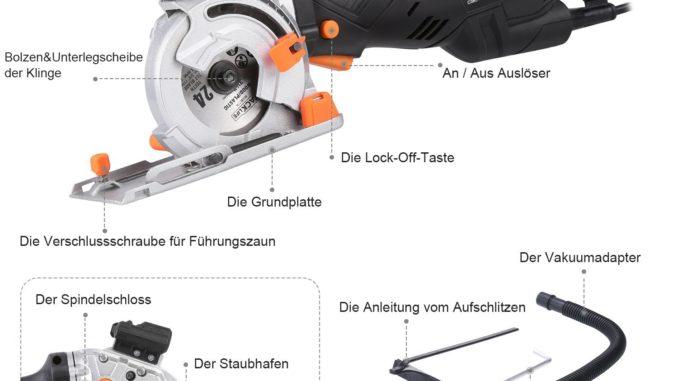 Tacklife CSK77AC Funktionen beschrieben | Quelle: amazon.de