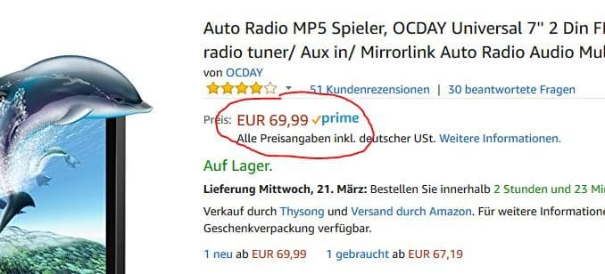 OCDAY Autoradio - Extrem günstiges Doppel Din Autoradio