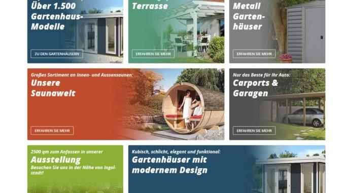 Gartenhaus GmbH Sortiment