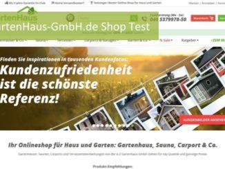 Gartenhaus GmbH Online Shop Test