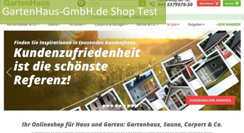 Gartenhaus Gmbh Online Shop Test 2019