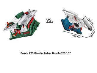 Bosch GTS 10 vs. Bosch PTS 10
