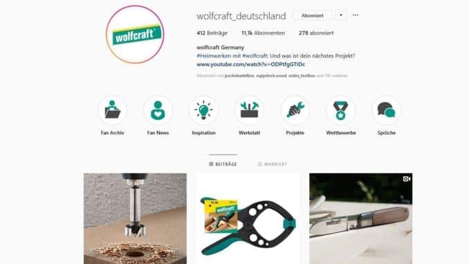 Wolfcraft Werkzeuge bei Instagram