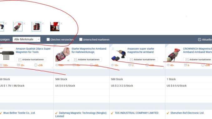 Magnetband auf Alibaba