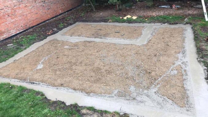 Gartenhaus Streifenfundament